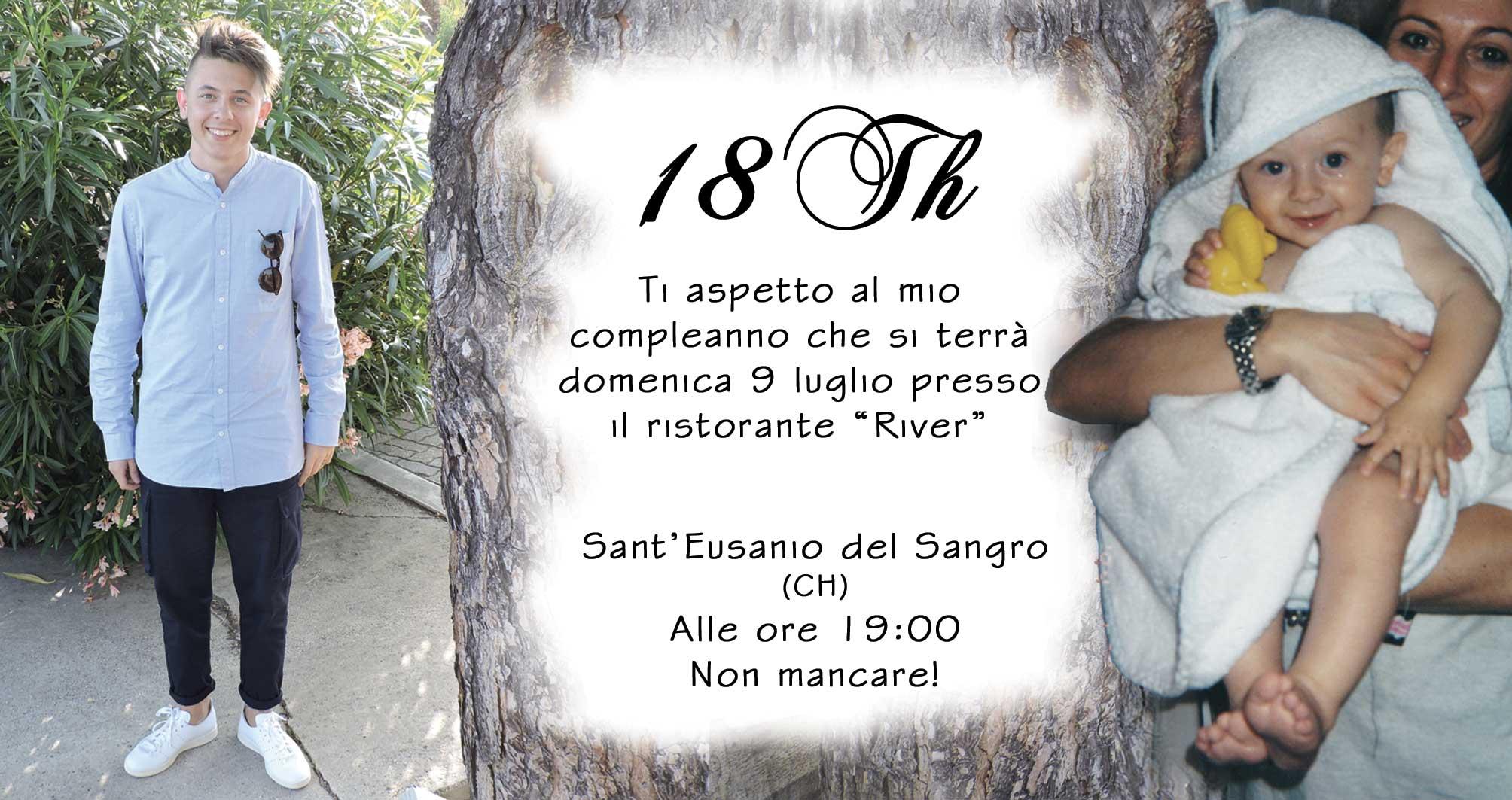 Siti Web Altino - Web Designer Altino- Loghi Altino - Nicola Pugliese - Invito 18 anni